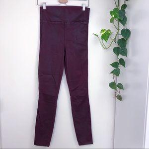 Level 99 Anthropologie Wax Leggings Maroon Size M